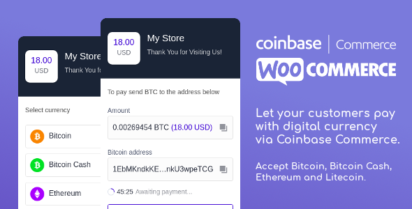 Coinbase Commerce for WooCommerce            Nulled