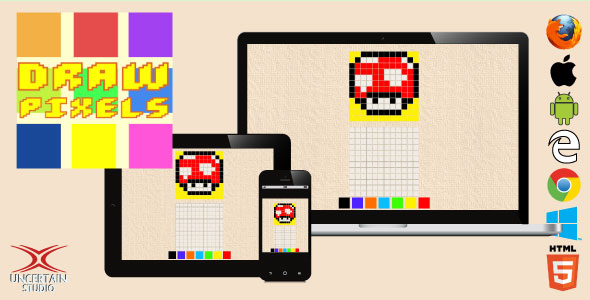 Draw Pixels - HTML5 Drawing Game            Nulled