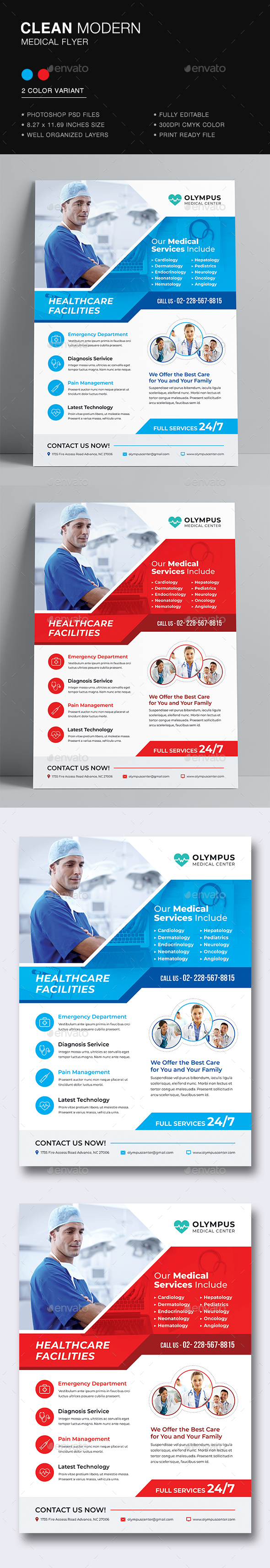 medical flyer template by dkgray graphicriver