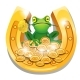 Golden Horseshoe with a Frog - GraphicRiver Item for Sale