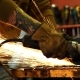 Worker Cutting Metal with Grinder - VideoHive Item for Sale