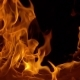Flames of Fire on Black Background - VideoHive Item for Sale