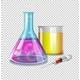 Beakers and Syringe With Liquid Inside