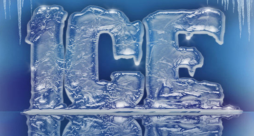 3D ICE TEXT EFFECT STYLES