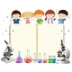 Children and Science Equipment
