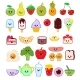 Kawaii Food Vector Emoticon Japanese Fruit - GraphicRiver Item for Sale