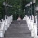 Athletic Woman Running Up the Stairs in the Park - VideoHive Item for Sale