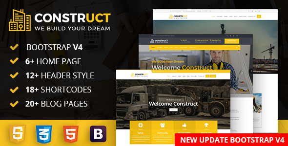 Construct : Construction, Building & Maintenance Business Template - Business Corporate