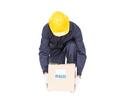 Man in uniform lifting the paper box-3 - PhotoDune Item for Sale