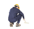 Worker in a uniform using a paint roller-6 - PhotoDune Item for Sale