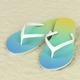 Flip flops on sand - PhotoDune Item for Sale