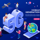Mobile Generation Isometric Banner - GraphicRiver Item for Sale
