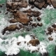 Aerial View of Ocean Waves Clashing on Rocky Coastline on By Drone Aerial Hikkaduwa Sri Lanka - VideoHive Item for Sale
