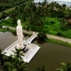 Aerial View From Shot Peraliya Buddha Statue, the Tsunami Memorial in Hikkaduwa, Sri Lanka - VideoHive Item for Sale