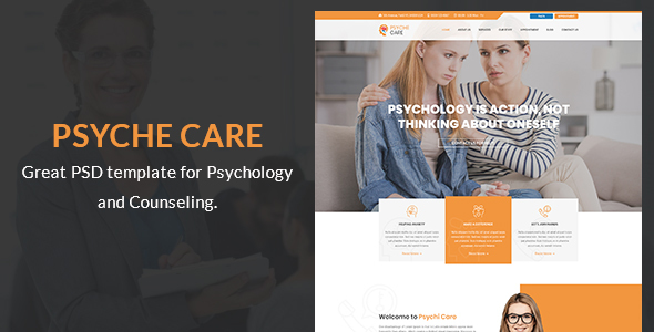 Psyche Care - Counseling PSD Template