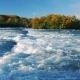 Turbulent Niagara River Before the Waterfall. On a Clear Autumn Day - VideoHive Item for Sale
