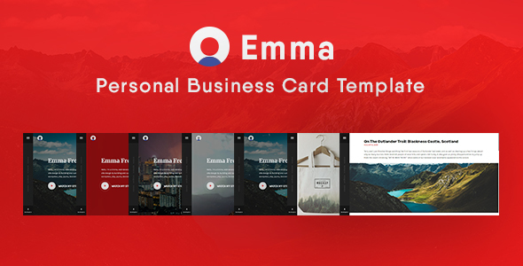 Emma personal business vcard html template virtual business card emma personal business vcard html template virtual business card cheaphphosting Gallery