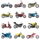 Motorcycle Vector Motorbike and Motoring Cycle - GraphicRiver Item for Sale