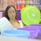 Lovely Brunette Woman Buying New Buckets for Households - VideoHive Item for Sale