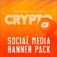 6 Cryptocurrency Minimal Social Media Banners - GraphicRiver Item for Sale