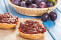 Sandwiches with plum marmalade or jam, healthy sweet snack concept - PhotoDune Item for Sale