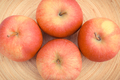 Fresh ripe apples on wooden background, healthy fruits - PhotoDune Item for Sale