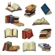 Books Vector Stack of Textbooks and Notebooks - GraphicRiver Item for Sale