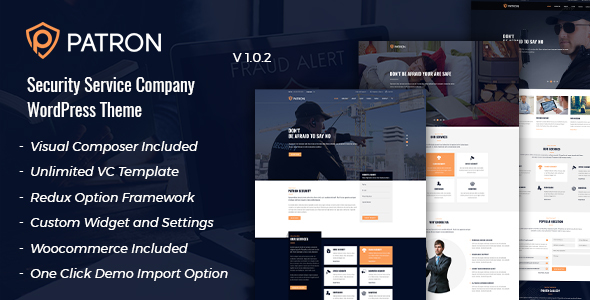Patron - Security Service Company WordPress Theme - Business Corporate