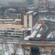 Train Moving Through the City in Winter - VideoHive Item for Sale