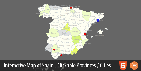 Interactive Map of Spain - HTML5 - CodeCanyon Item for Sale