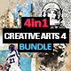 4-in-1 Creative Arts Bundle Photoshop Action v4 - GraphicRiver Item for Sale
