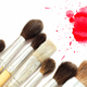 Set of brushes and red blot - PhotoDune Item for Sale