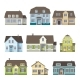 Set of Classic Cottage House Front View - GraphicRiver Item for Sale