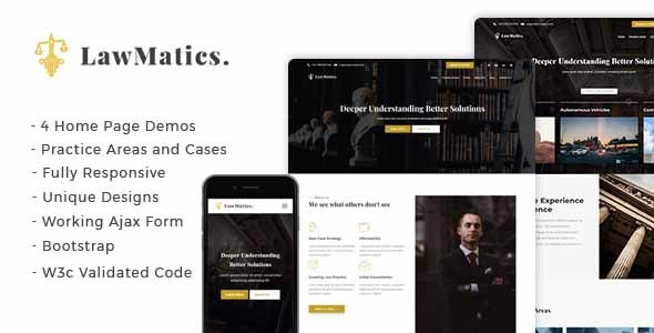 LawMatics - Creative Law Firm and Attorney Landing Page