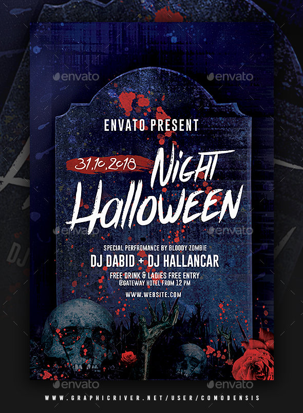 halloween flyer template by comodensis graphicriver