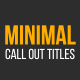 Minimal Call Out Titles - VideoHive Item for Sale