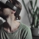 Young Bearded Hipster Man Using His VR Headset Display for Virtual Reality Game or Watching the 360 - VideoHive Item for Sale