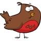 Cartoon Brown Bird