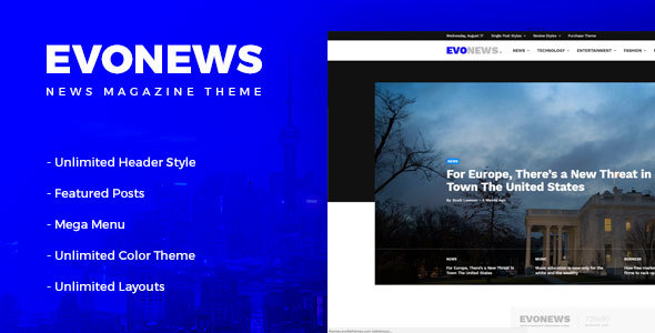 Evonews - News/Magazine WordPress Theme - News / Editorial Blog / Magazine
