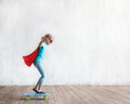 Little girl skating in studio - PhotoDune Item for Sale