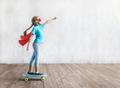 Super girl skating on a skateboard - PhotoDune Item for Sale