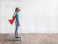 Little girl skating on a skateboard - PhotoDune Item for Sale