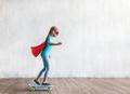 Super girl skating in studio - PhotoDune Item for Sale