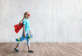 Little super girl with a skateboard - PhotoDune Item for Sale