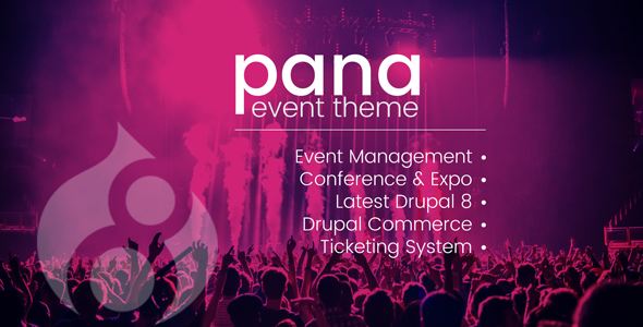 Pana Events Listing and Conference Drupal 8.6 Theme