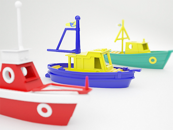 Toy boats - 3DOcean Item for Sale