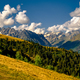 Beautiful mountain landscape in Kazbegi national park, Caucasus, Country of Georgia - PhotoDune Item for Sale