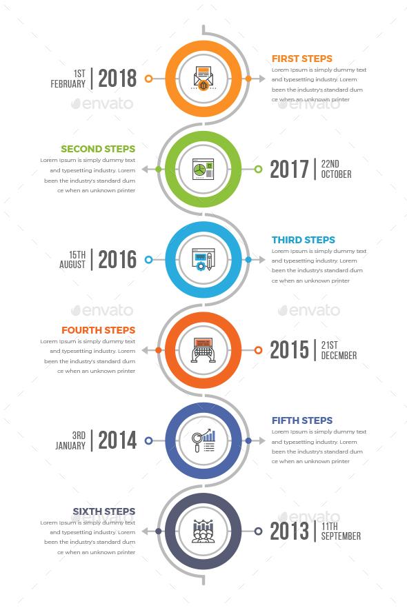 Vertical Timeline Infographics - Infographics