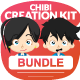 Chibi Character Creation Kit Bundle - GraphicRiver Item for Sale