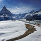 The train towards Gornergrat with Matterhorn view in winter - PhotoDune Item for Sale